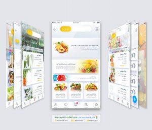 طراحی ui ux اپلیکیشن موبایل کافه میوه