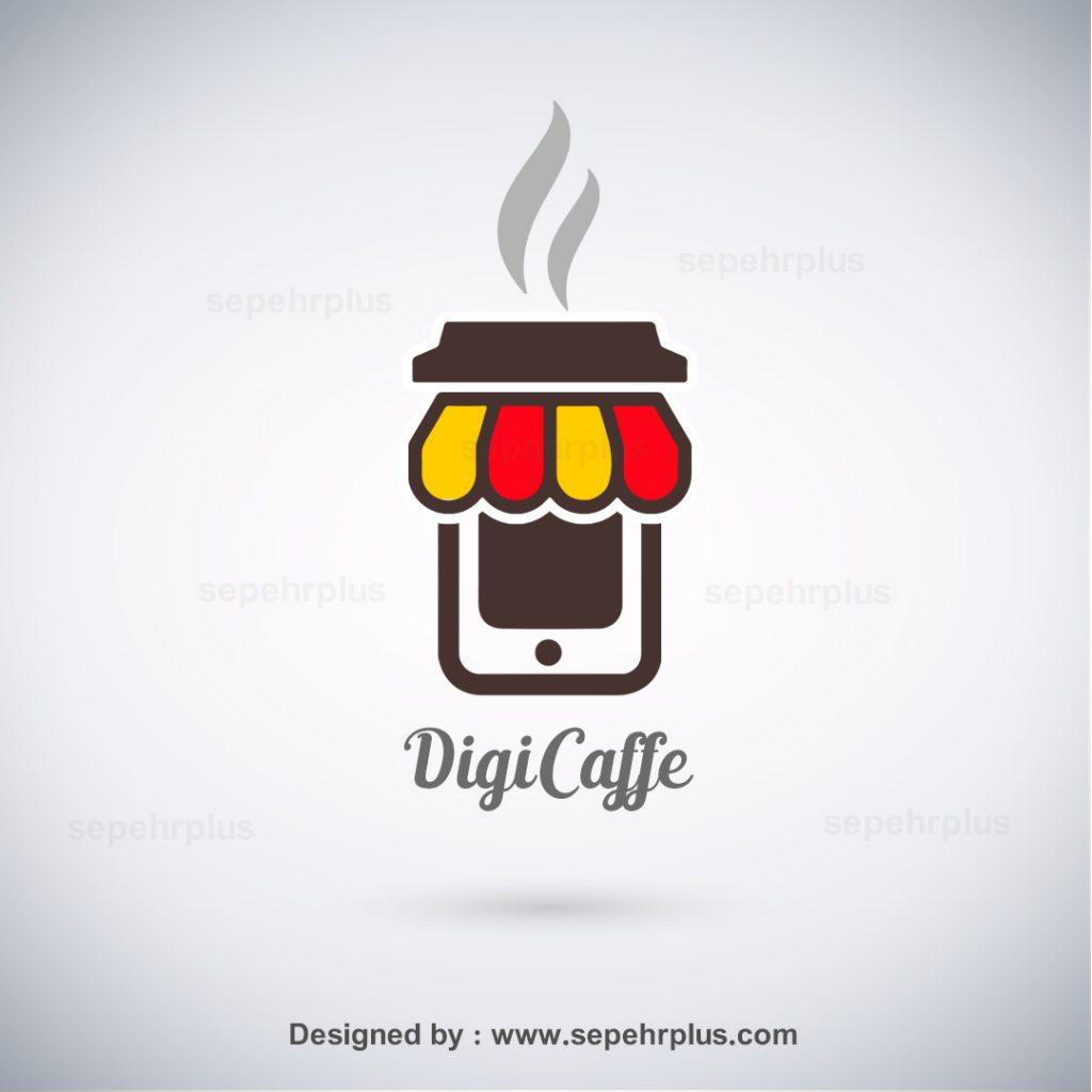 طراحی لوگو دیجی کافه