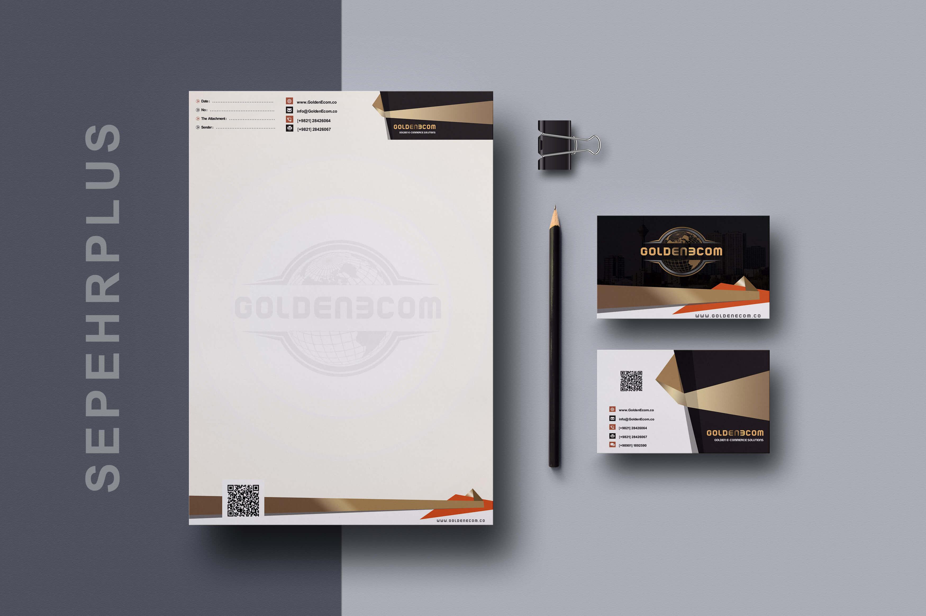 طراحی ست اداری شرکت گلدن ای وب