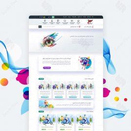 طراحی ui ux سایت تیکاوب
