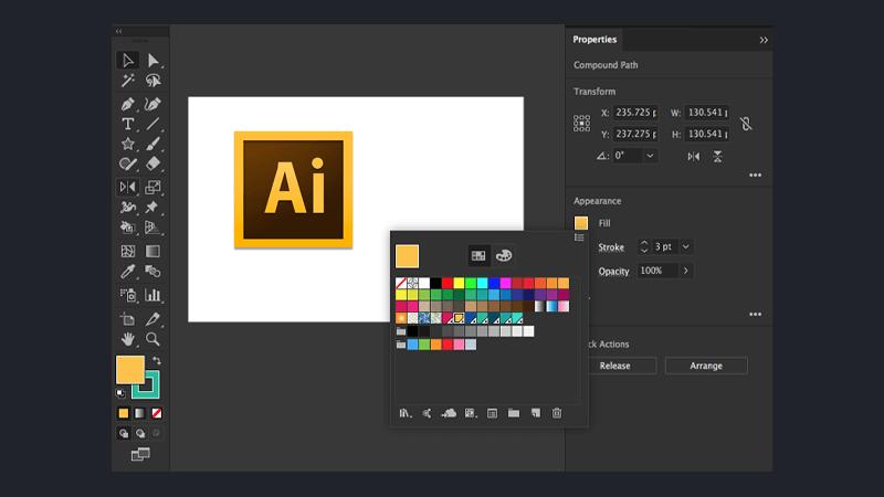 نرم افزار طراحی رابط کاربری Adobe Illustrator