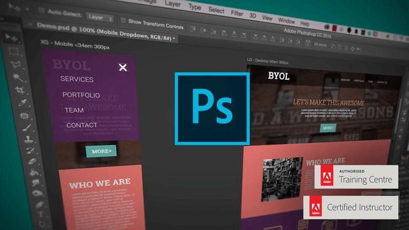 نرم افزار طراحی رابط کاربری Adobe Photoshop