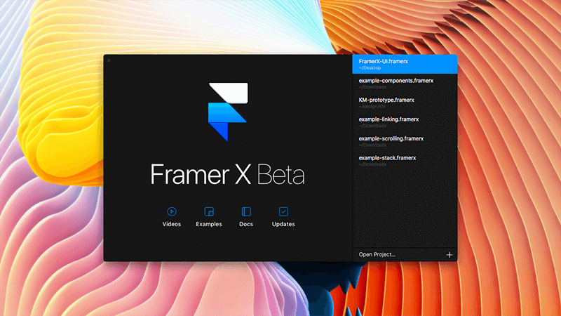 نرم افزار طراحی رابط کاربری Framer X