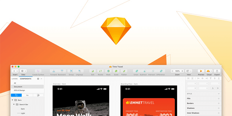 نرم افزار طراحی رابط کاربری Sketch