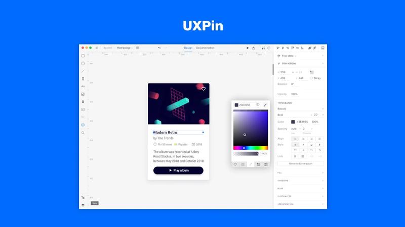 نرم افزار طراحی رابط کاربری uxpin